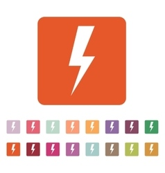 The lightning icon Power symbol Flat vector image