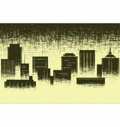 worn city vector image