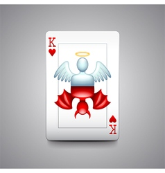 Angel and devil playing cards vector image