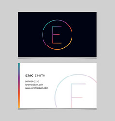 Business-card-letter-e vector