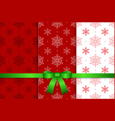 Christmas Pattern and Ribbon vector image