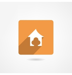 doghouse icon vector image
