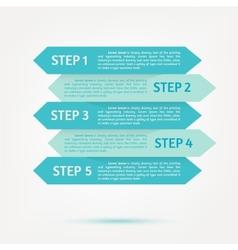 flat infographics design background vector image