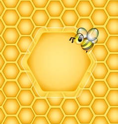 Graphical Honeycomb design Element vector image