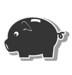 money piggy pig moneybox icon graphic vector image