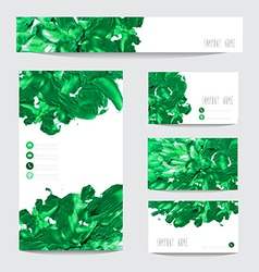 Oil painted business cards vector image