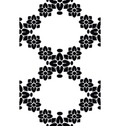 Seamless floral black pattern vector image vector image