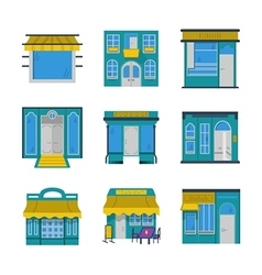 Showcases flat color icons vector image vector image