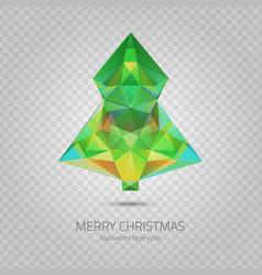 Transparent christmas tree vector