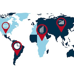 world statistics vector image