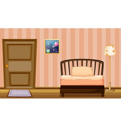 A bed and a door vector image vector image