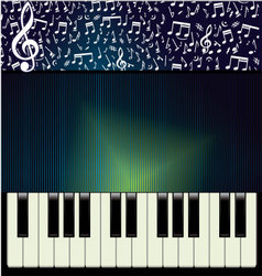 abstract music background vector image vector image