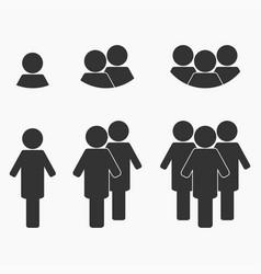 black business team vector image