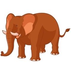 Cartoon smiling elephant vector image