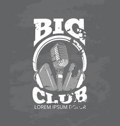 karaoke music club audio record studio vector image vector image