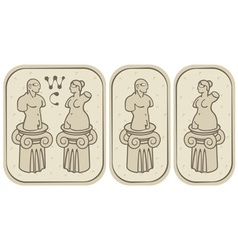 male and female toilets vector image