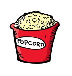 pop corn vector image