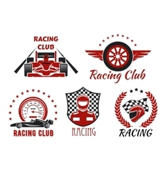 Racing club motorsport competition icons design vector image vector image