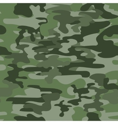 Seamless camouflage pattern in green vector image
