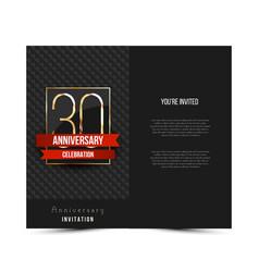 30th anniversary invitation card template vector