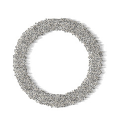 a lot people stand in a circle on a white vector image