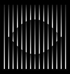 abstract unusual eye sign logo on geometric black vector image