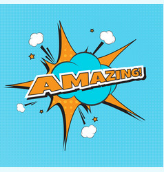 amazing text with banner vector image