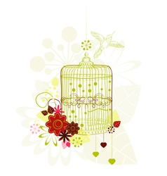 Background with green cage vector