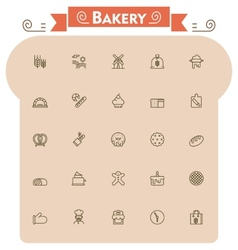 Bakery icon set vector image