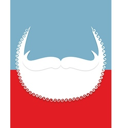 Beard and mustache Christmas Santa Claus vector image