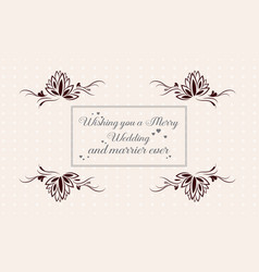 Beauty style wedding invitation card collection vector