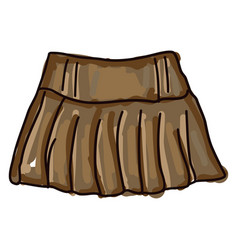 brown skirt on white background vector image