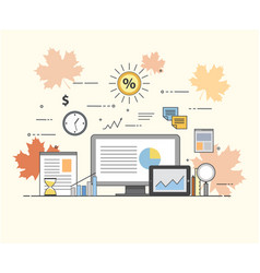 business and finance digital technologies charts vector image