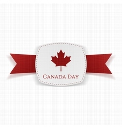 Canada Day festive Label with Ribbon vector image