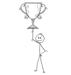 cartoon of man or businessman balancing winner vector image