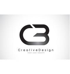 Cb c b letter logo design creative icon modern vector