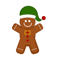 christmas gingerbread cookie cartoon character vector image