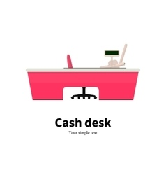 colored cash desk at a supermarket vector image