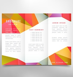 Colorful trifold brochure design vector
