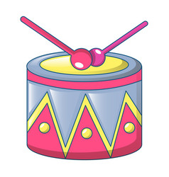 drum icon cartoon style vector image