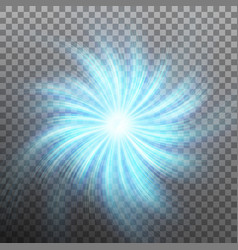 Effect of star with flare light with transparency vector
