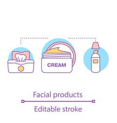 Facial products concept icon vector