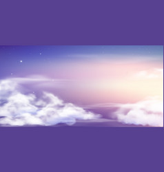Fantasy sky beautiful fairy skies fantastic vector