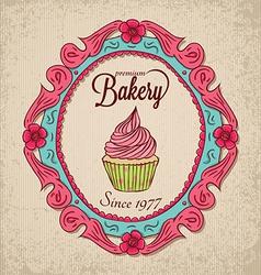 frame01 bakery vector image