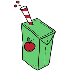freehand drawn cartoon juice box vector image