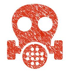 Gas mask icon grunge watermark vector