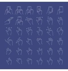 Gesture icon set vector image