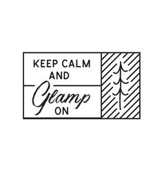 Glamping logo adventure camp emblem vector
