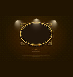 gold frame border picture and pattern thai art vector image