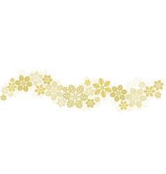 gold snowflakes border on white stock vector image